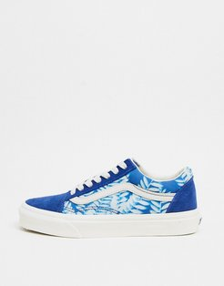 Floral Old Skool sneakers in blue