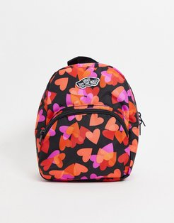 Got This mini backpack in red and black