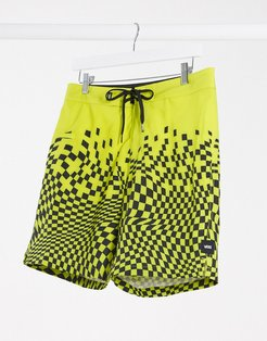 Pixelated board short in yellow