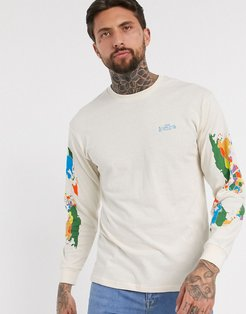 Save Our Planet long sleeve top in natural-White