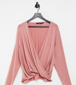 wrap top in rose-Pink