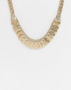 Vibe and Carter double layer neckchain in gold exclusive to ASOS