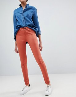 Asa Mid Rise Skinny Jeans-Orange