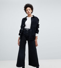 Ace wide leg jeans with organic cotton in black
