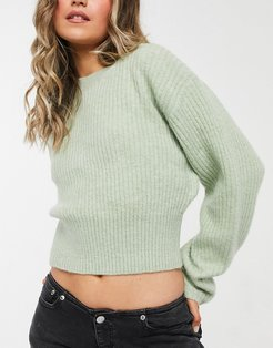 Jessa knitted sweater in sage green