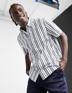 Louie Striped Shirt in Navy/White