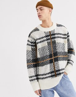 Stanley checked sweater in white
