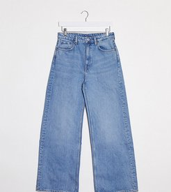 wide leg jeans with organic cotton in blue