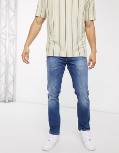 Larston slim tapered jeans in blue-Blues