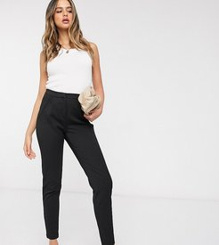tailored pants with elasticated waist in black