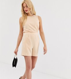 tailored romper-Pink