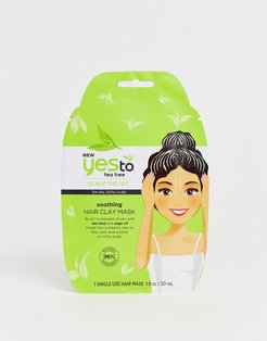 Tea Tree Soothing Clay Hair Mask Single Use-No Color