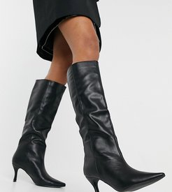 Exclusive Abella vegan pull on boots in black