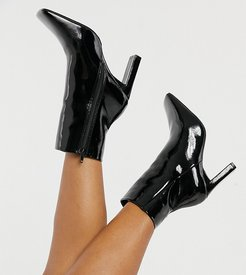 Exclusive Addy vegan friendly square toe boots in black