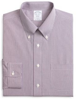 Micro-Checked Classic Fit Dress Shirt