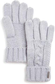 Cable-Knit Cuff Gloves