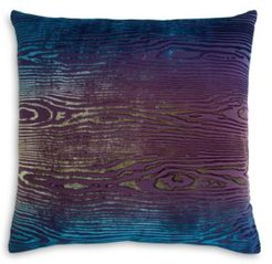 Woodgrain Velvet Decorative Pillow, 18 x 18