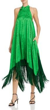 Abito Fringed Halter Midi Dress