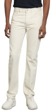 Straight Slim Fit Jeans in White
