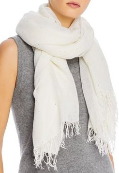 Cashmere & Silk Scarf with Scattered Sequins