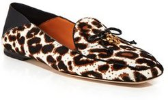 Leopard Print Calf Hair Apron Toe Loafers