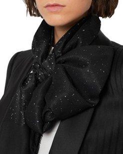 Shimmer Micro Sequins Scarf