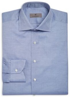 Crosshatch Textured Solid Classic Fit Dress Shirt