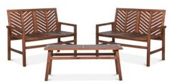 Harbor Love Seat 3 Piece Outdoor Patio Set
