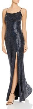 Embellished Hologram Gown - 100% Exclusive