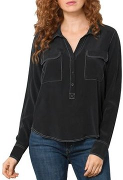 Point Out The Details Silk Blouse