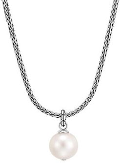 Sterling Silver Classic Chain Cultured Freshwater Pearl Pendant Necklace, 18 + 2 extender