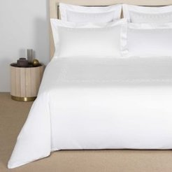 Links Embroidery Duvet Cover, Queen