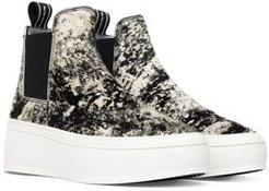 Lucy High Top Faux Fur Pull On Platform Sneakers