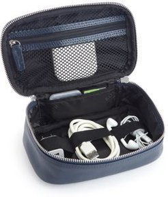 Leather Tech Accessory Travel Storage Case