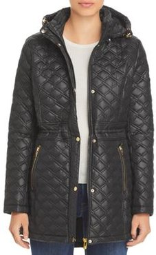 Quilted Hooded Coat