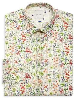 Soho Floral Garden Print Slim Fit Shirt