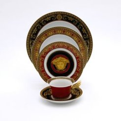 Rosenthal Meets Versace Medusa 8.5 Square Tray