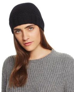Waffle Knit Cashmere Hat - 100% Exclusive
