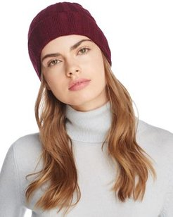 Ribbed Cashmere Cuff Hat - 100% Exclusive