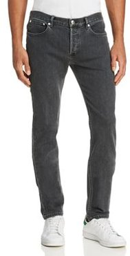 Petit New Standard Slim Fit Jeans in Washed Black