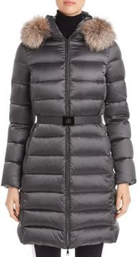 Tinuv Giubotto Belted Fur Trim Down Coat