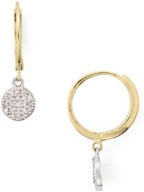 Marc & Marcella Two-Tone Diamond-Encrusted Disc Drop Earrings in Gold-Plated Sterling Silver & Sterling Silver - 100% Exclusive