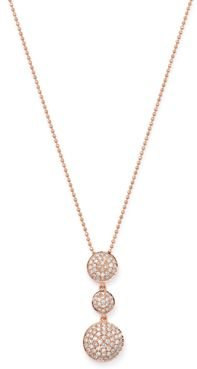 Pave Diamond Pendant Necklace in 14K Rose Gold, 0.55 ct. t.w. - 100% Exclusive