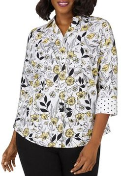 Mary Floral-Toile Shirt