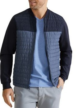 Montauk Quilted Color-Blocked Knit Jacket