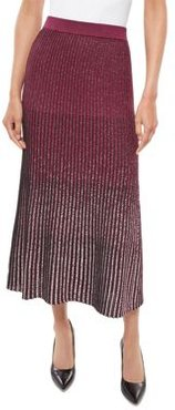 Shimmer Ombre Knit Fit & Flare Skirt