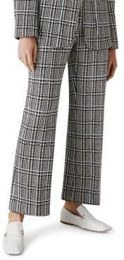 Knits Prince of Wales Plaid Knit Cropped Pants