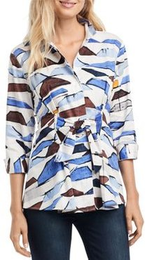Nic+Zoe In A Row Printed Blouse