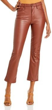 The Insider Faux-Leather Ankle Flare Jeans in Faux Show Tortoise Shell