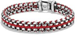 Woven Box Chain Bracelet in Red